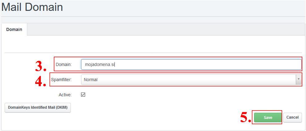 kreiranje domene e-pošte