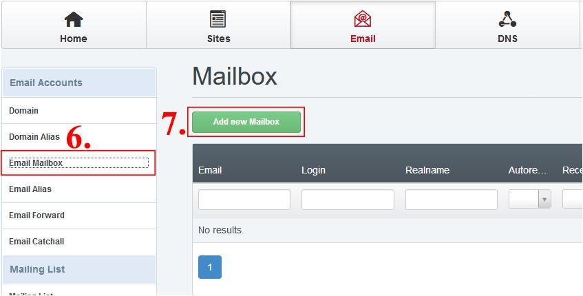 kreiranje nabiralnika e-pošte
