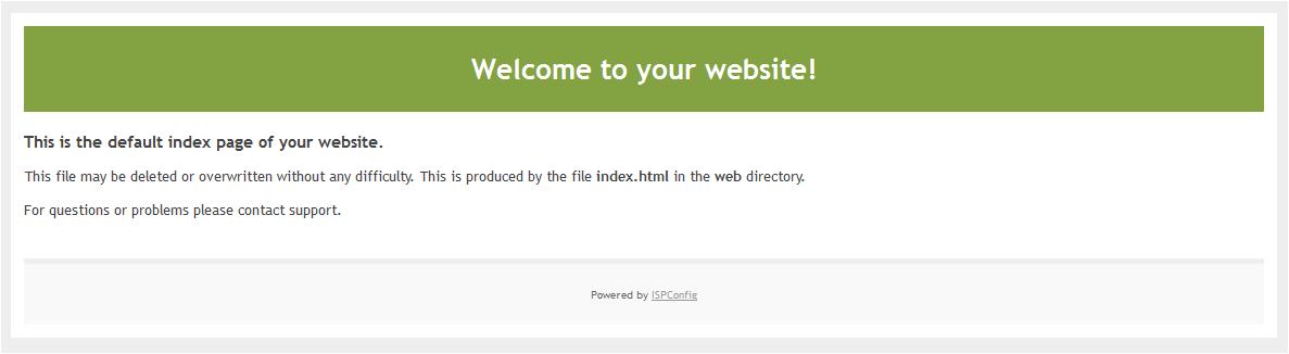 Prikaz privzete spletne strani